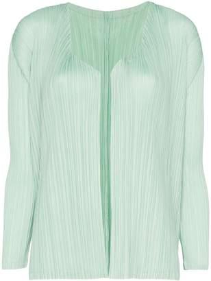 Pleats Please Issey Miyake plissé pleated cardigan