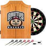 Trademark Global NCAA Dart Cabinet NCAA Team: Ohio State University - Brutus Buckeye