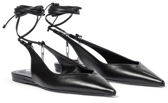 ATTICO Venus leather ballet flats
