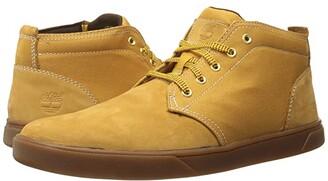Timberland Groveton Leather and Fabric Chukka (Medium Grey Nubuck) Men's Shoes