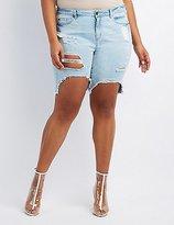 Charlotte Russe Plus Size Refuge Bermuda Cut-Off Denim Shorts