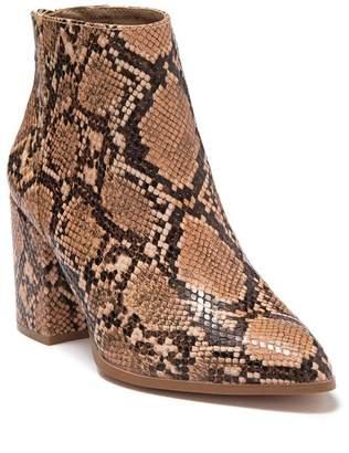 Steve Madden Julianna Pointed Toe Embossed Block Heel Boot
