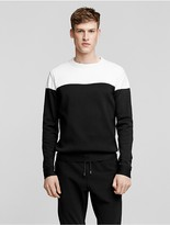 Calvin Klein Collection Compact Yarn Color Blocked Sweater
