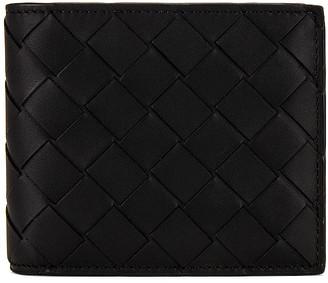 Bottega Veneta Leather Wallet in Black   FWRD