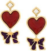 DSQUARED2 heart embellished drop earrings