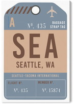 Oliver Gal Seattle Luggage Tag Wall Art