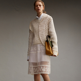 Burberry Panelled Cashmere, Cotton and Wool Sweater
