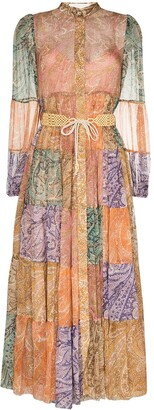 Zimmermann Brighton patchwork midi shirtdress