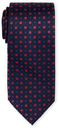 Tommy Hilfiger Coral Flower Dot Silk Tie