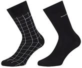 Hugo Boss Boss Rs Design Stretch Cotton Socks, Pack Of 2