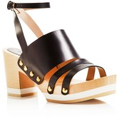 Furla Gina Three Strap Clog Sandals