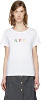 A.P.C. White Logo couleurs T-shirt