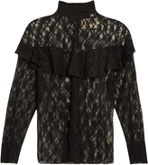 Awake Punk lace ruffled blouse