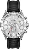 Bulova Men's Quartz Analog Rubber Strap Watch, 38mm