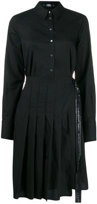 Karl Lagerfeld Paris poplin pleated shirt dress