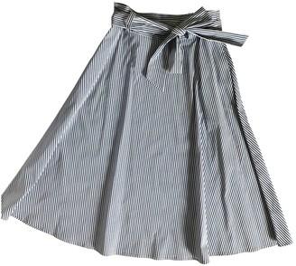 Comptoir des Cotonniers Blue Cotton Skirt for Women