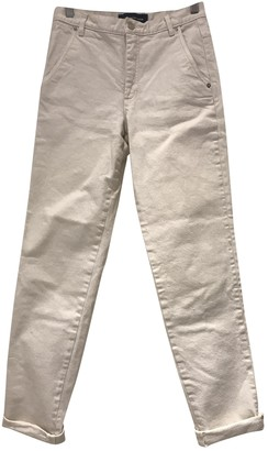 Vanessa Seward White Cotton Trousers for Women