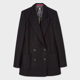 Paul Smith Women's Black Wool-Cashmere Double-Breasted Coat