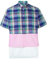 DSQUARED2 checked colour block shirt