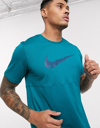 Nike Running swoosh logo t-shirt in blue