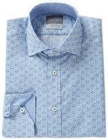 Thomas Dean Long-Sleeve Botanical Print Woven Shirt