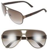 Gucci Men's 62Mm Aviator Sunglasses - Brushed Brown
