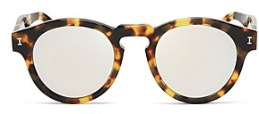 Illesteva Women's Leonard Mirrored Round Sunglasses, 48mm