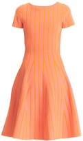 Carolina Herrera Striped Fit-&-Flare Dress