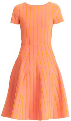 Carolina Herrera Striped Fit-&-Flare Dress