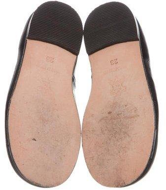 Bonpoint Girls' Leather Round-Toe Flats