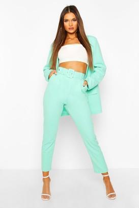 boohoo Self Belt Dress Pants