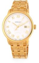 Versace Stainless Steel Chain Link Watch