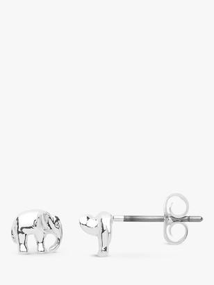 Estella Bartlett Elephant Stud Earrings, Silver