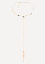 Bebe Tassel Collar Necklace
