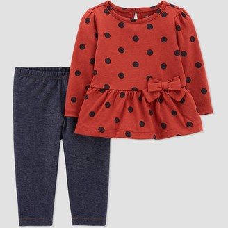 Just One You Made By Carter's Baby Girls' Dot Top & Bottom Set - Just One You® made by carter's