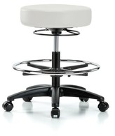 Height Adjustable Massage Therapy Swivel Stool with Foot Ring Perch Chairs & Stools Color: Orange Kist Vinyl