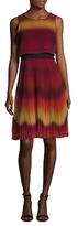Karen Millen Blurred Striped Flared Dress