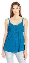 Lucky Brand Women's V-Neck Shirttail Cami Tank Top, CloudDancer, Medium