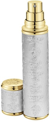 Creed Silver with Gold Trim Leather Pocket Atomizer