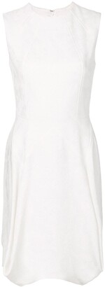 Talbot Runhof Flared Sleeveless Dress