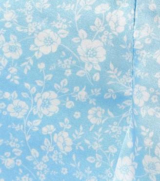 Ganni Stretch-silk satin midi skirt