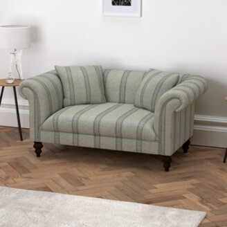 The White Company Earlsfield Stripe Natural Oak Legs Sofa, Stripe, One Size