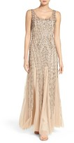 Adrianna Papell Women's Beaded Tank Gown