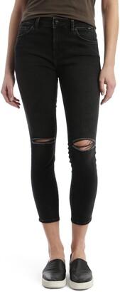 Mavi Jeans Tess Ripped Stretch Crop Skinny Jeans