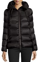 Moncler Serinde Hooded Short Puffer Jacket, Black