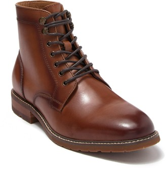 14th & Union Leather Plain Toe Lace Up Boot