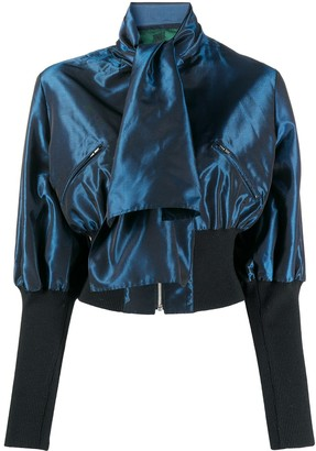 Jean Paul Gaultier Pre Owned 1991 Pussy Bow Zipped Blouse
