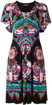 Roberto Cavalli printed ruffle sleeve dress - women - Cotton/Viscose - 44