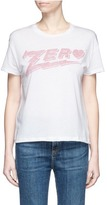 Zoe Karssen 'Zero' print cotton blend T-shirt