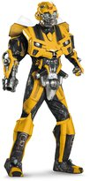 Disguise Men's Hasbro Transformers Age Of Extinction Movie Bumblebee Theatrical with Vacuform Plus 3D Costume